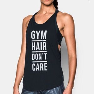 Under Armour Gym Hair Don't Care graphic tank